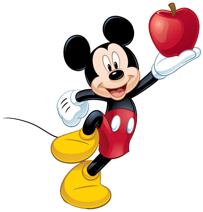 Apple on hand png. Kiss clipart mickey mouse