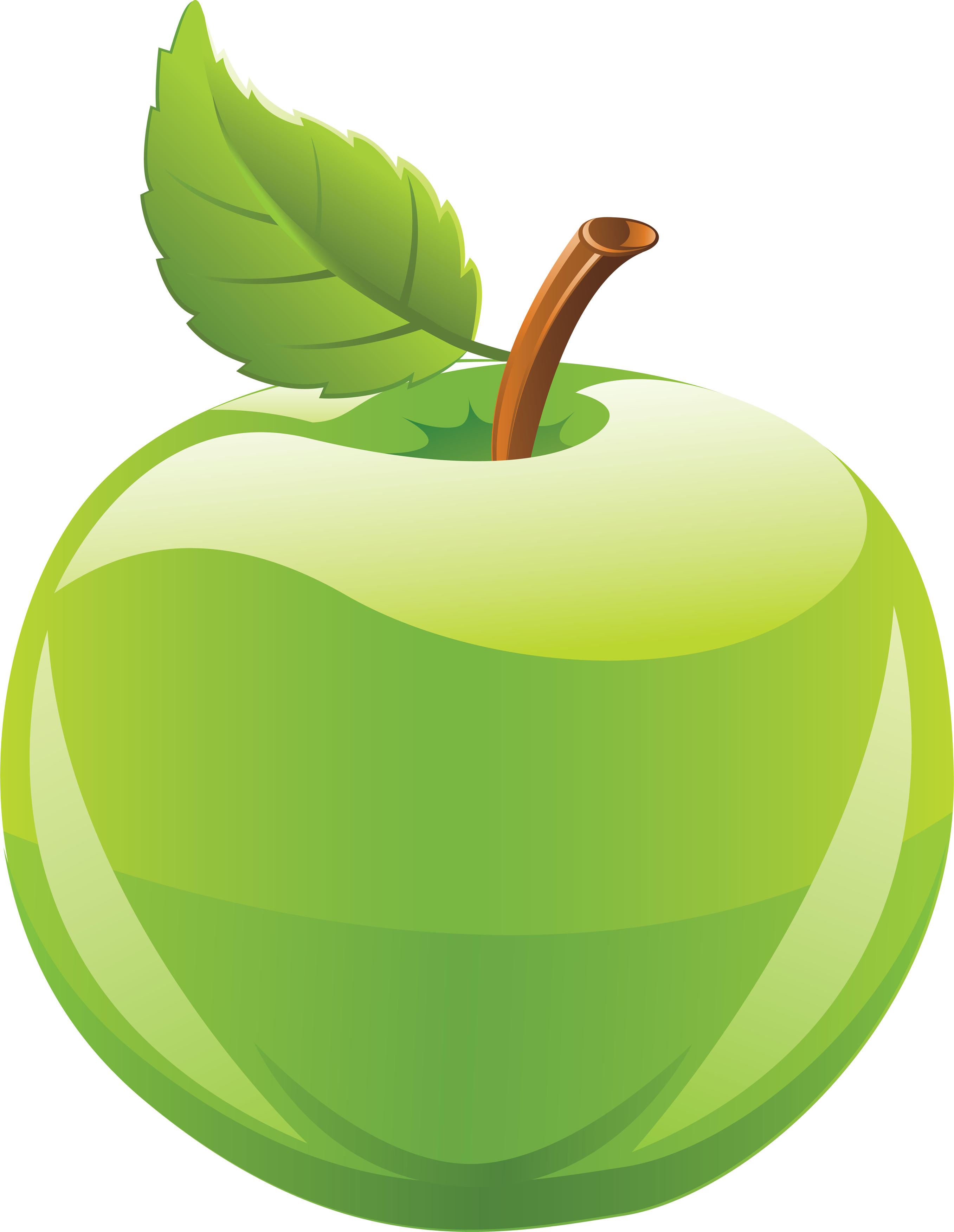Apple for kids at. Green clipart transparent background