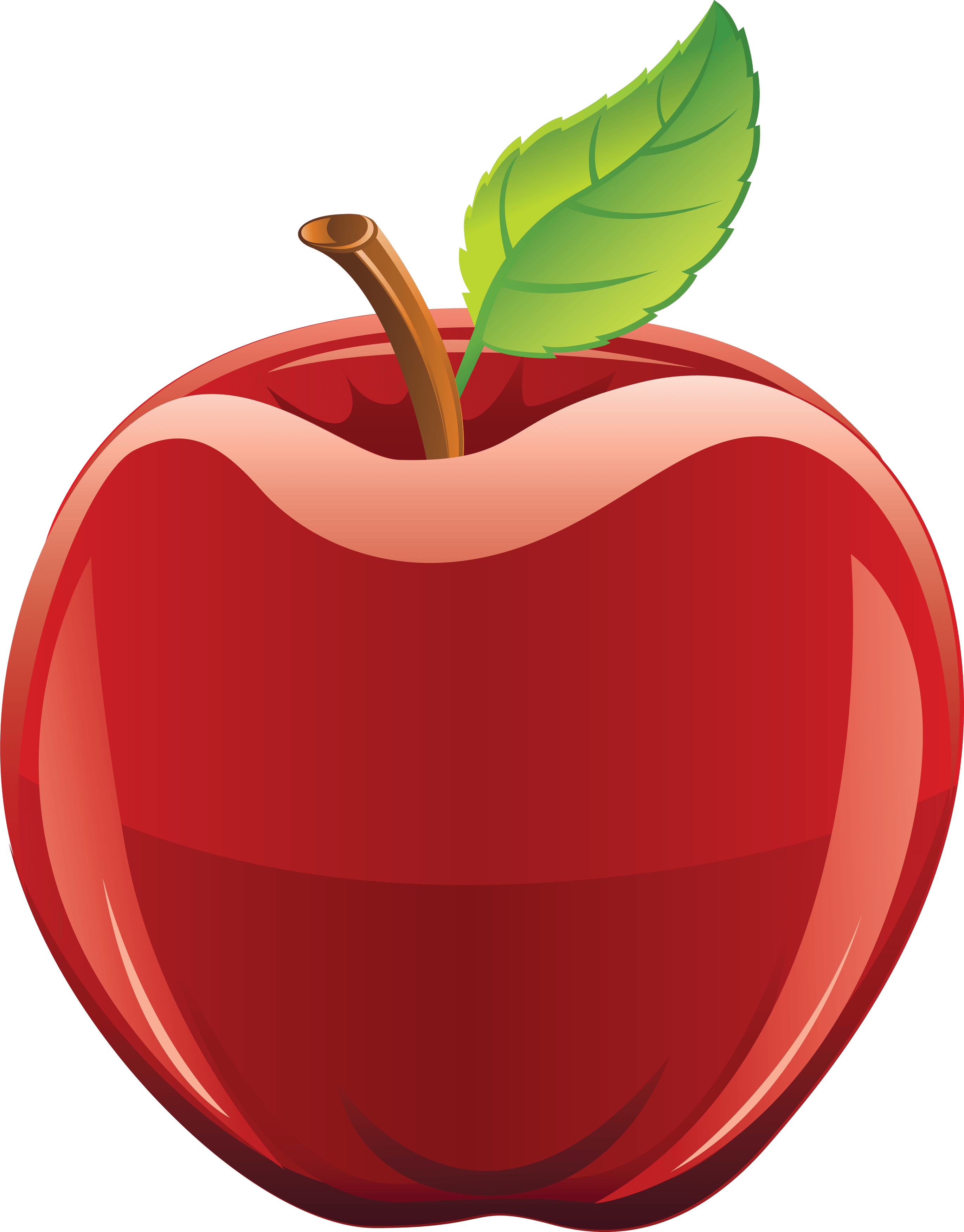 Clipart fruit star apple.  red png image