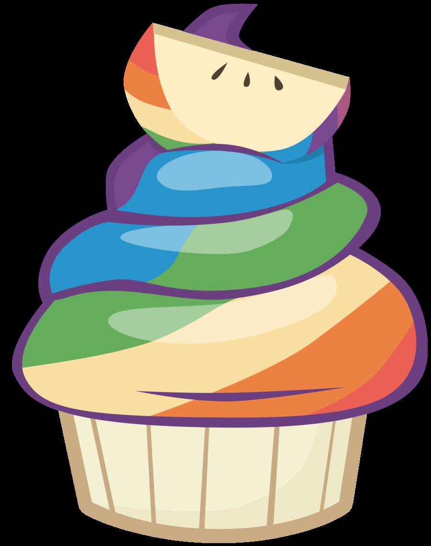 cupcake clipart apple