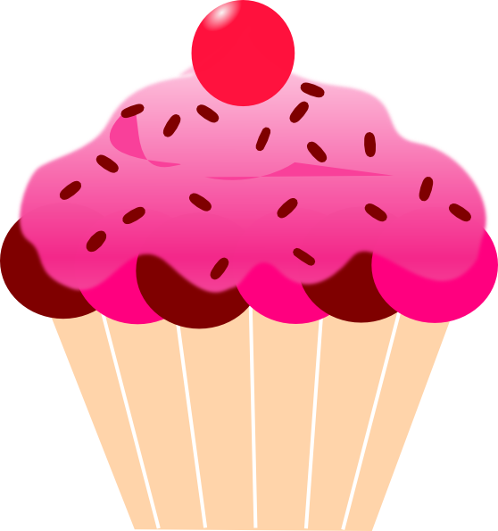 Cartoon pictures of cupcakes. Hearts clipart cupcake