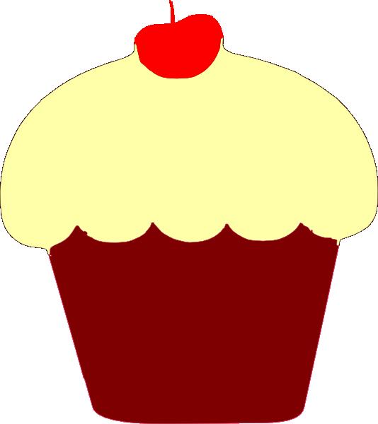 Red velvet clip art. Clipart cupcake victorian
