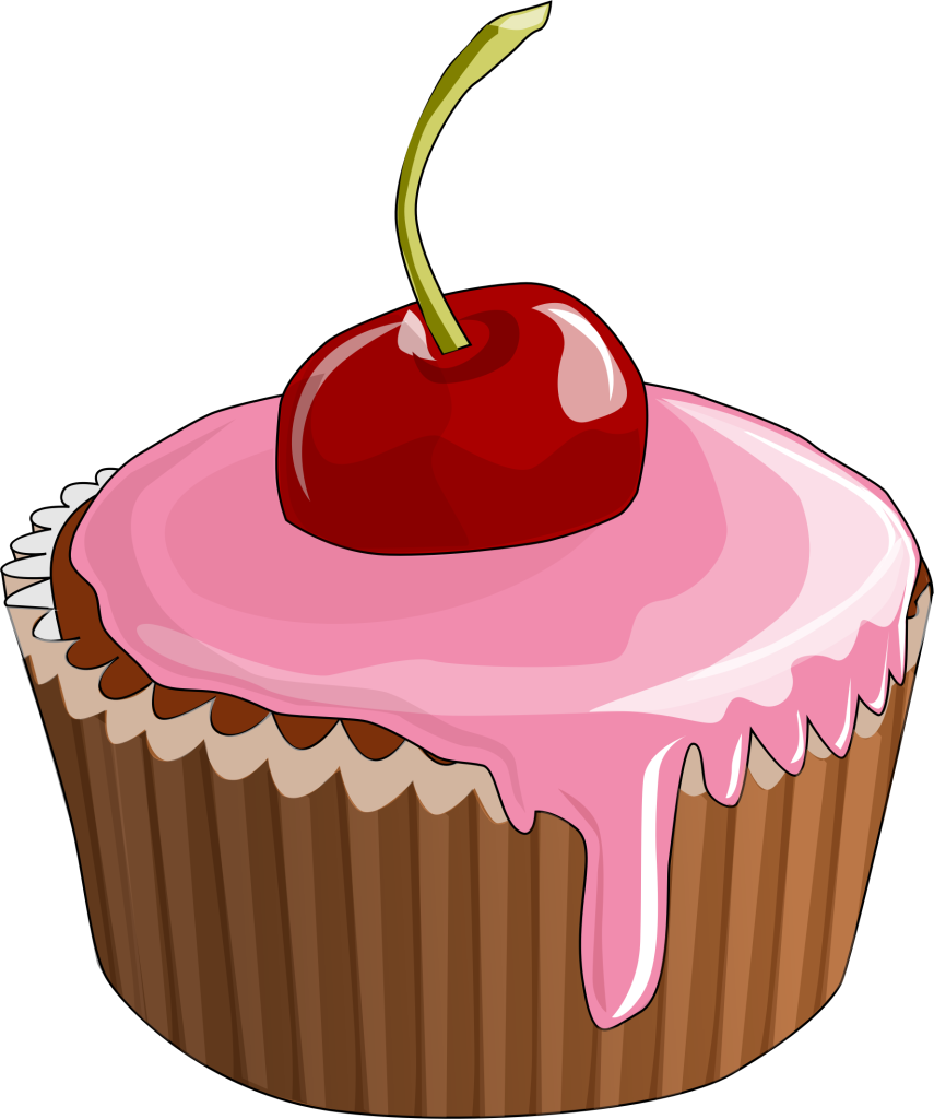 Cupcake frosting icing clip. Muffin clipart bakery food