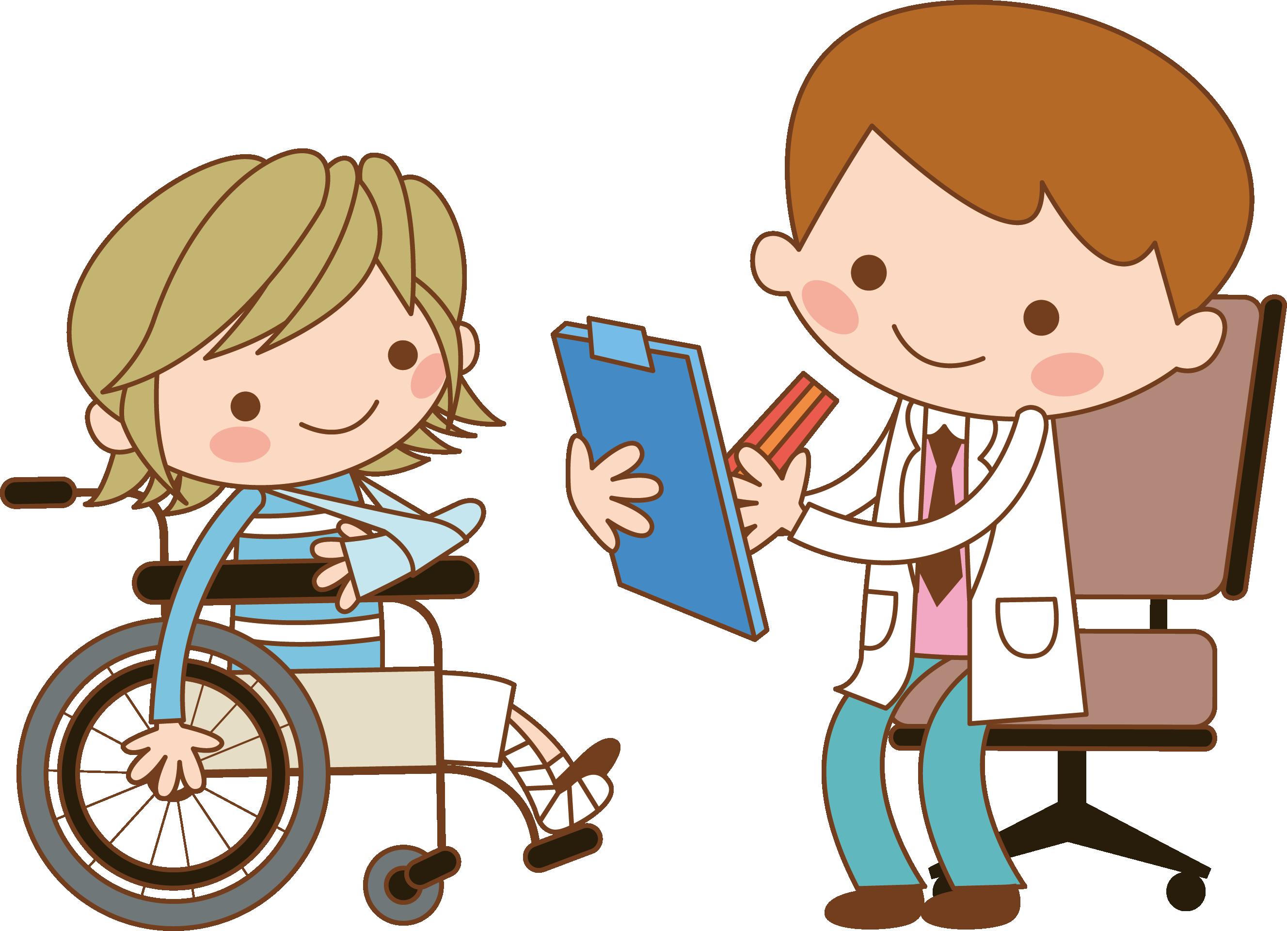 Clipart doctor doctor patient. Nurse wheelchair clip art