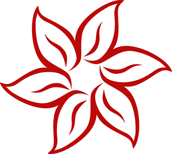 Flower clip art at. Graph clipart red line