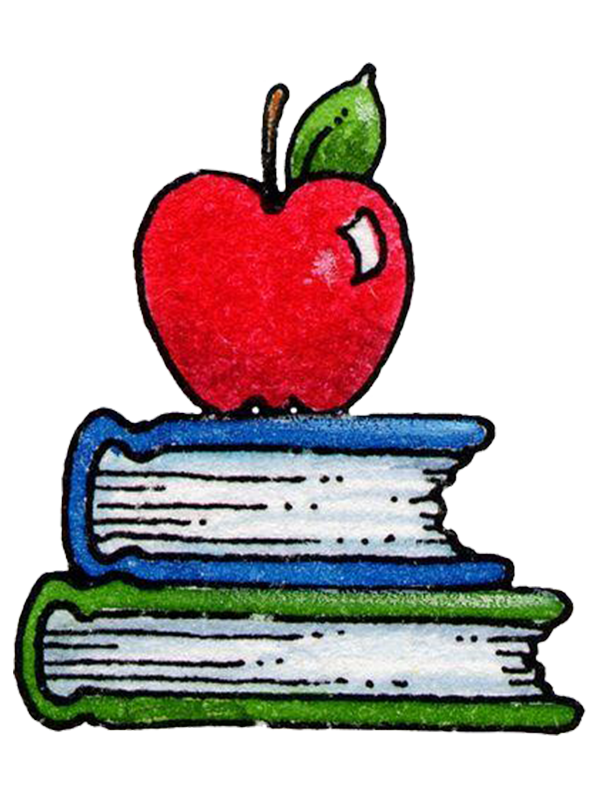 Student school paper drawing. Clipart apple education