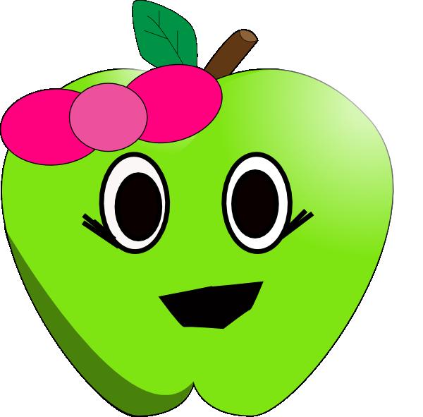 Smilling little clip art. Clipart apple eye