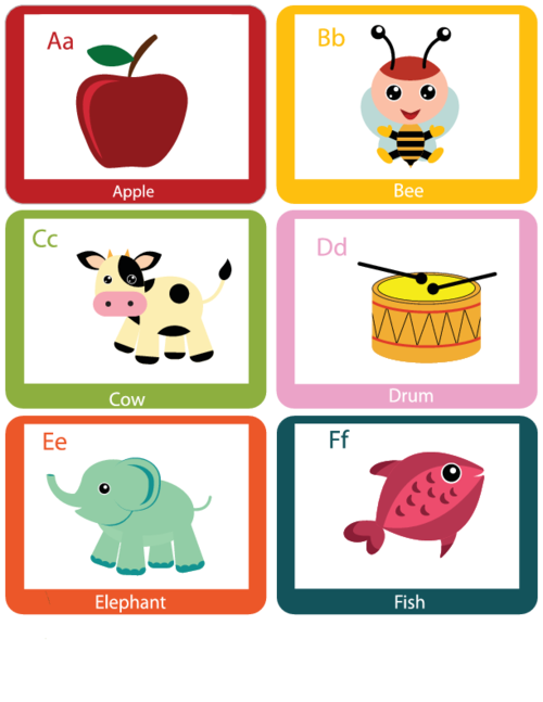 Alphabet flash cards a. Diversity clipart teacher