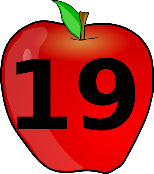 Clipart smile apple. Counting clip art at