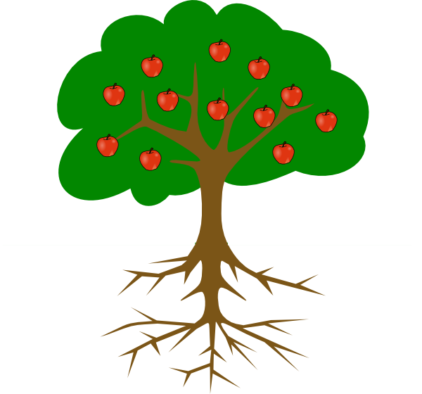 Young clipart apple tree. Root panda free images
