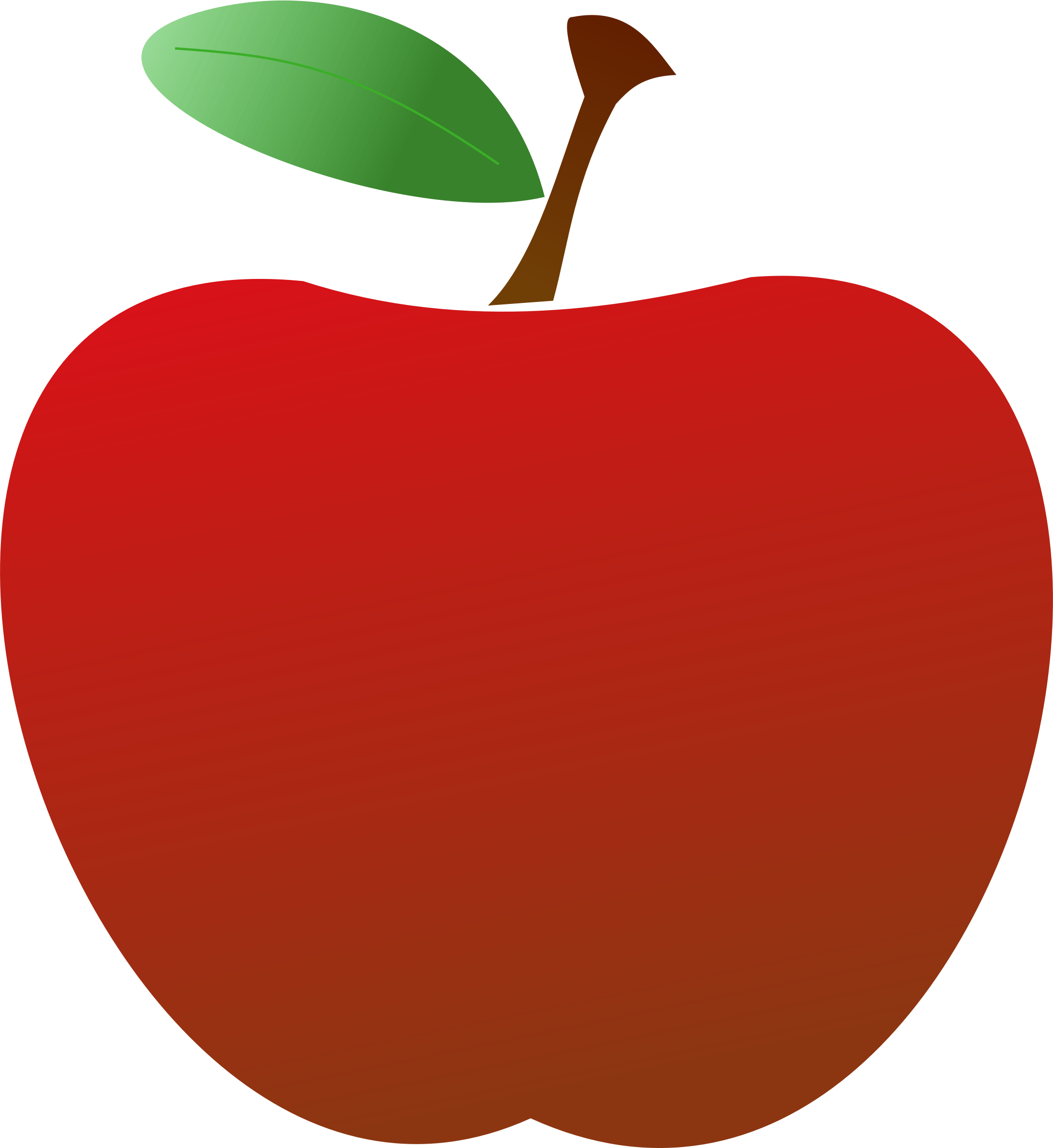Red apple big image. Clipart food simple