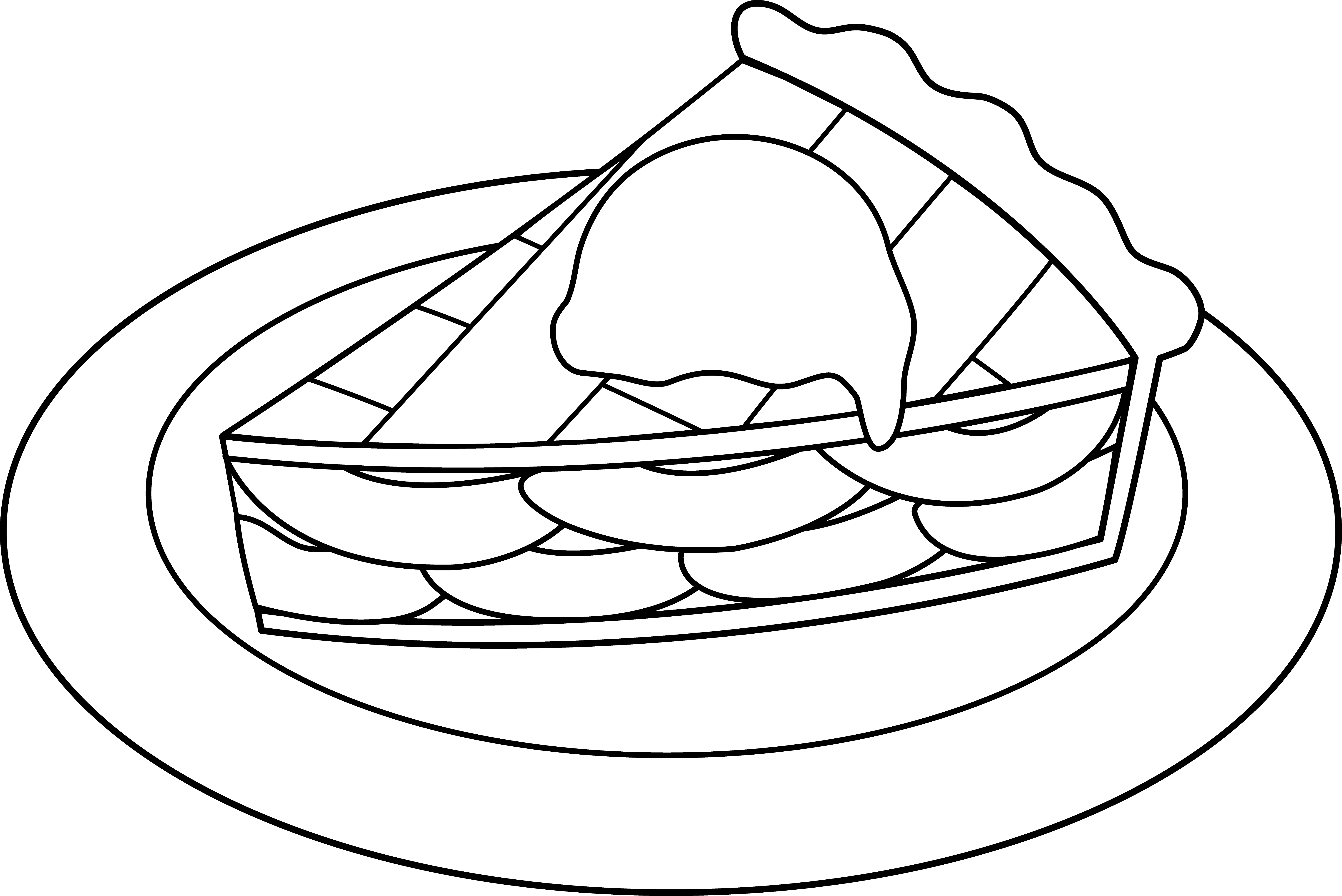 Pie clipart draw. Apple line art free