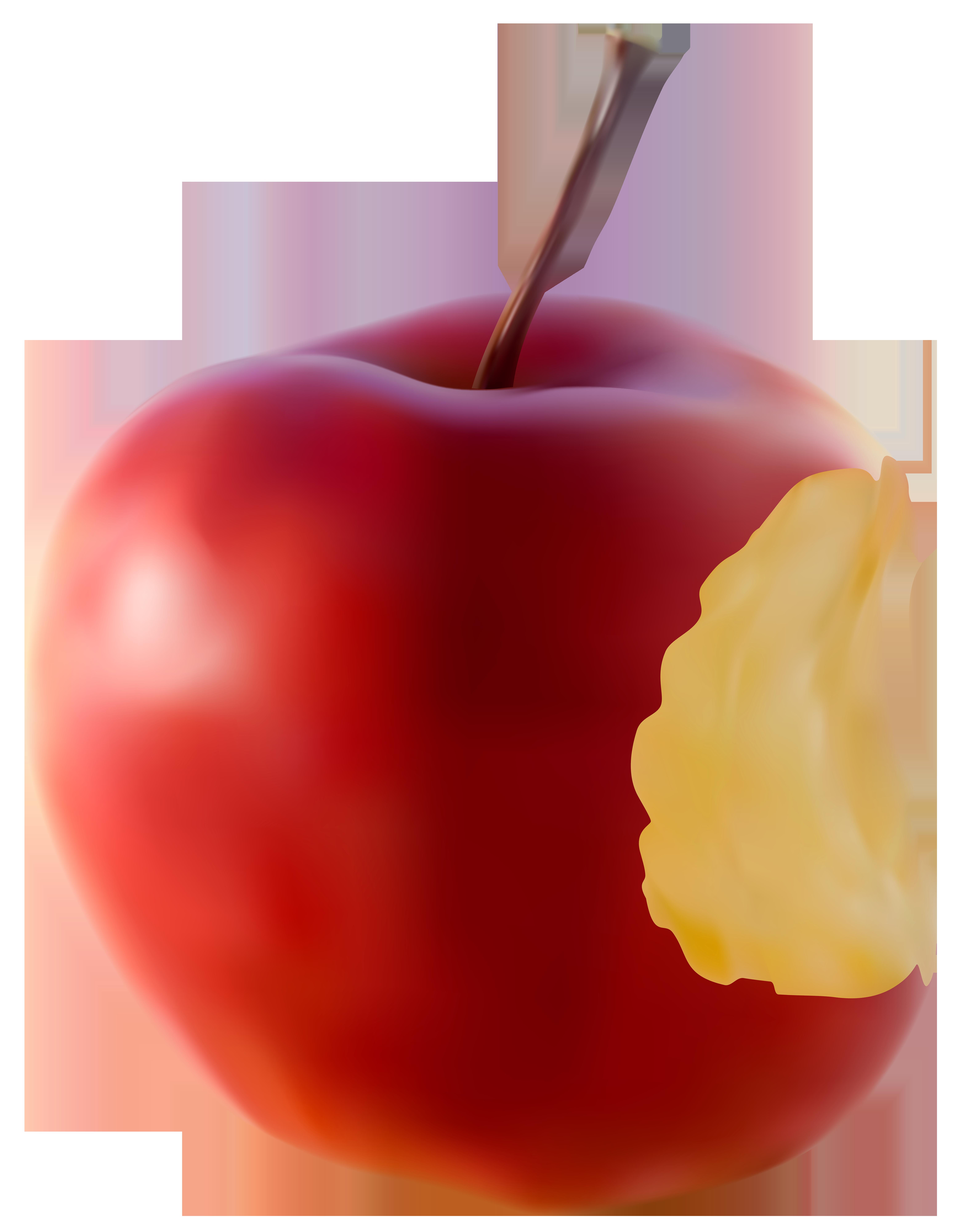 Apple red transparent clip. Cookies clipart bitten food