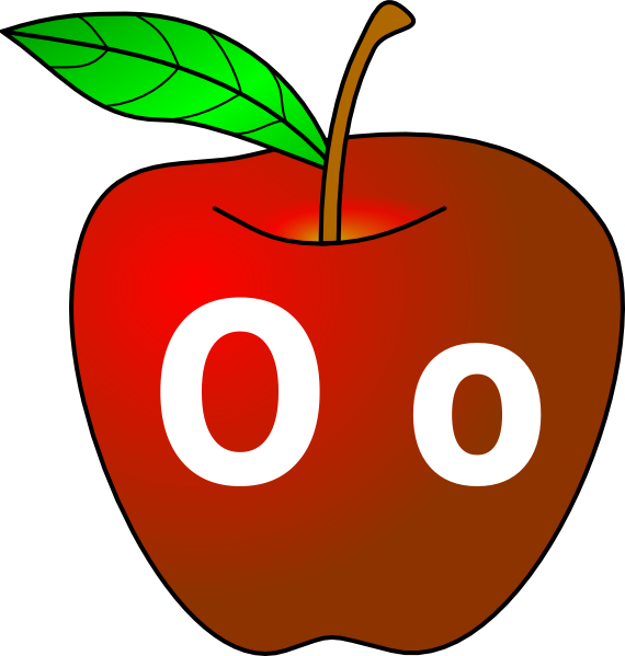 Apple with o clip. Tomatoes clipart sour food