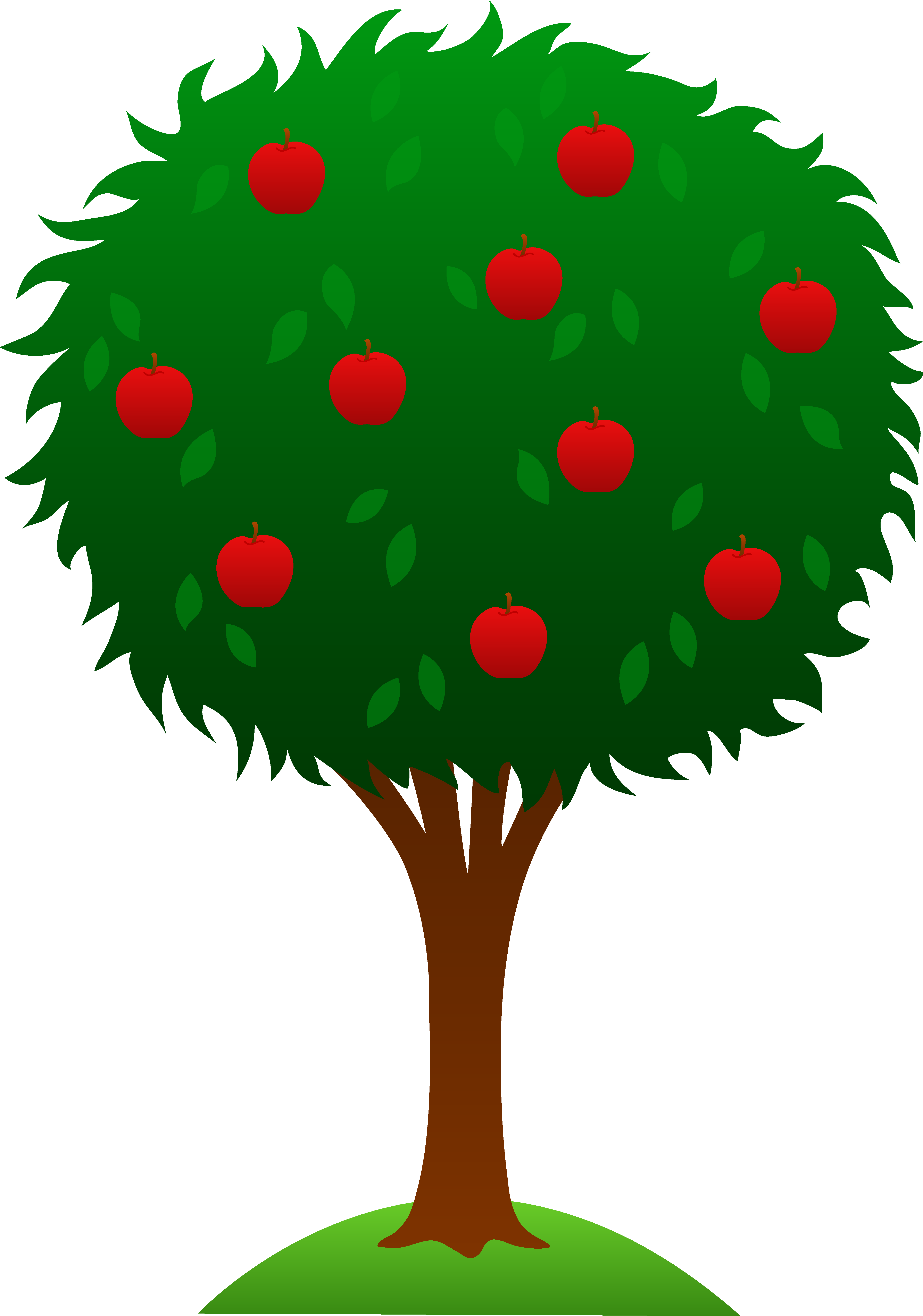 Clipart trees number. Apple tree design free