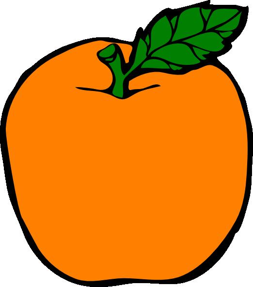 Clip art at clker. Peach clipart orange apple