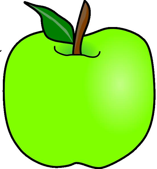Green delicious apple clip. Tree clipart teacher