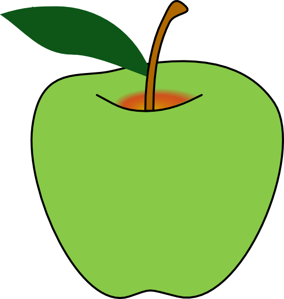 Green Apple Clip Art at Clker