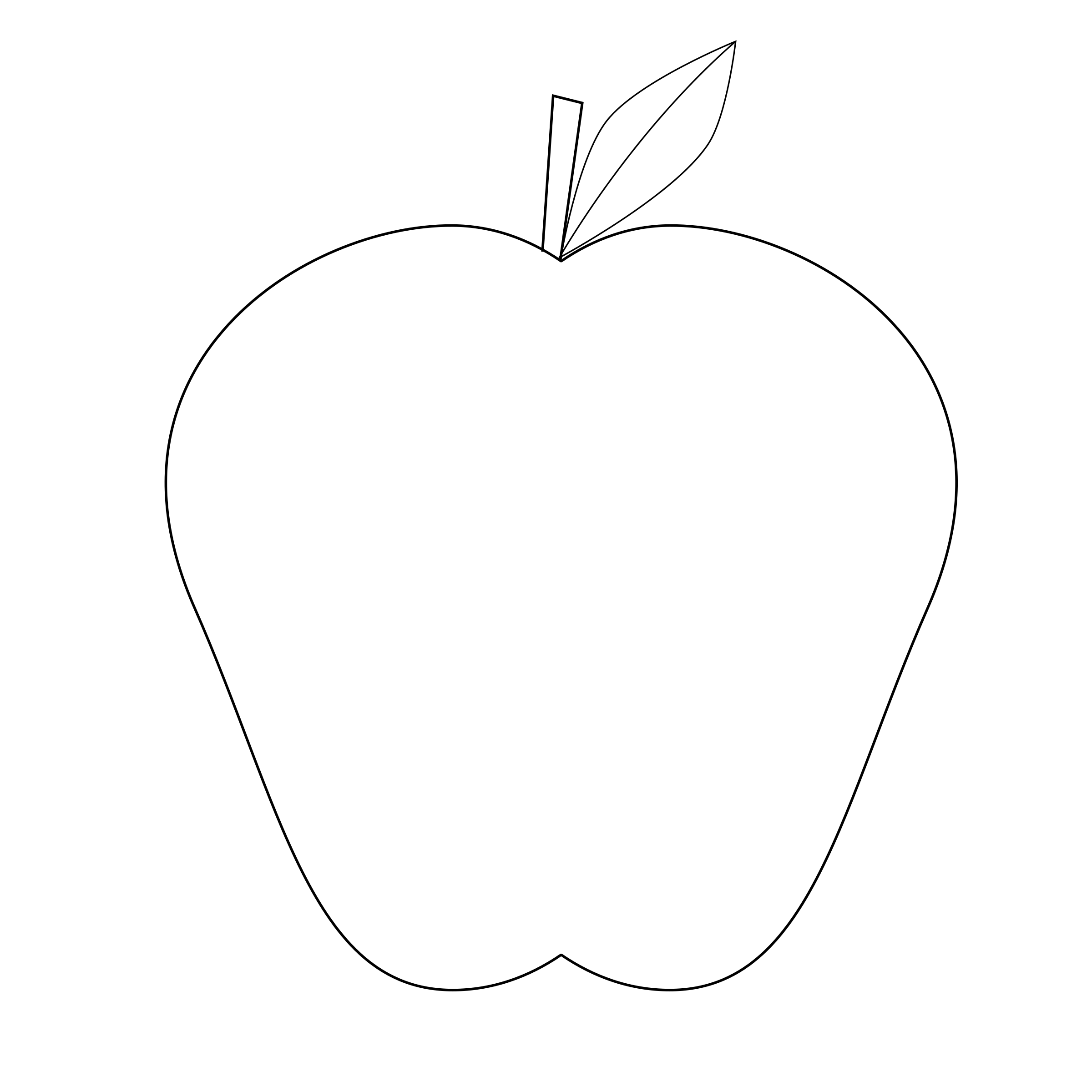 Big image png. Clipart apple outline