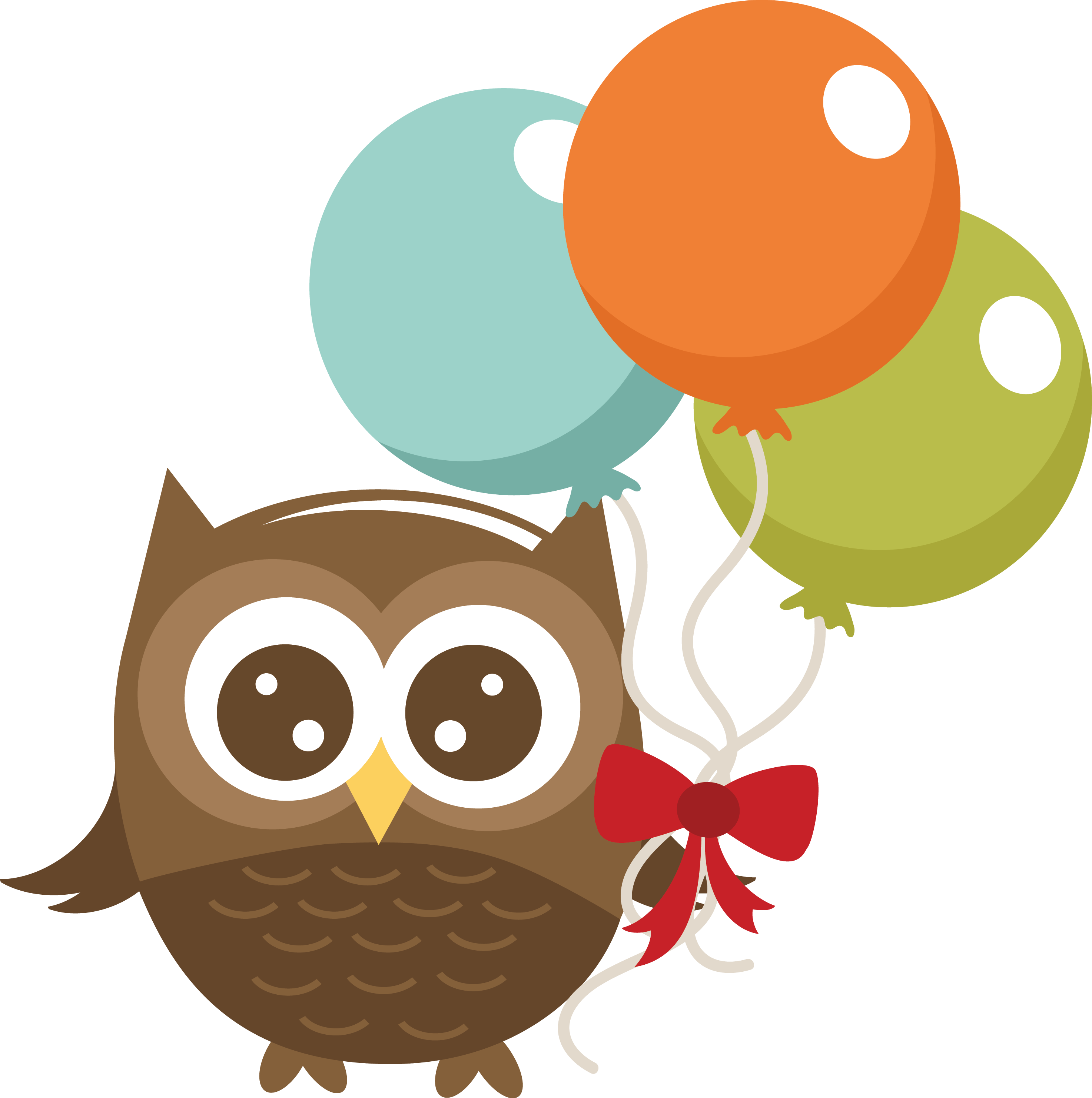 Holding balloons miss kate. Paper clipart owl