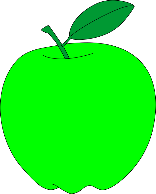 Green apple free vector. Apples clipart pdf
