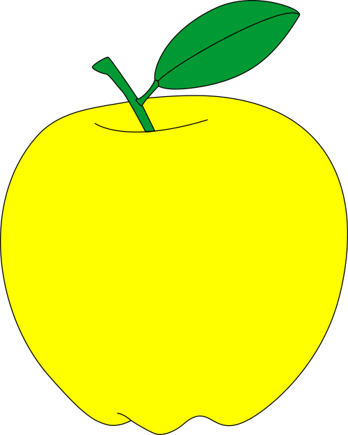 Apples clipart pdf. Yellow apple free vector