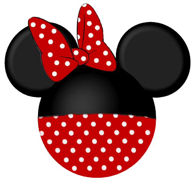 Minnie mouse clip art. Dot clipart black and white