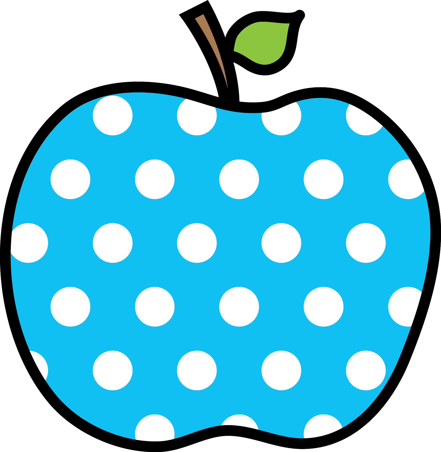 Apples polka dot