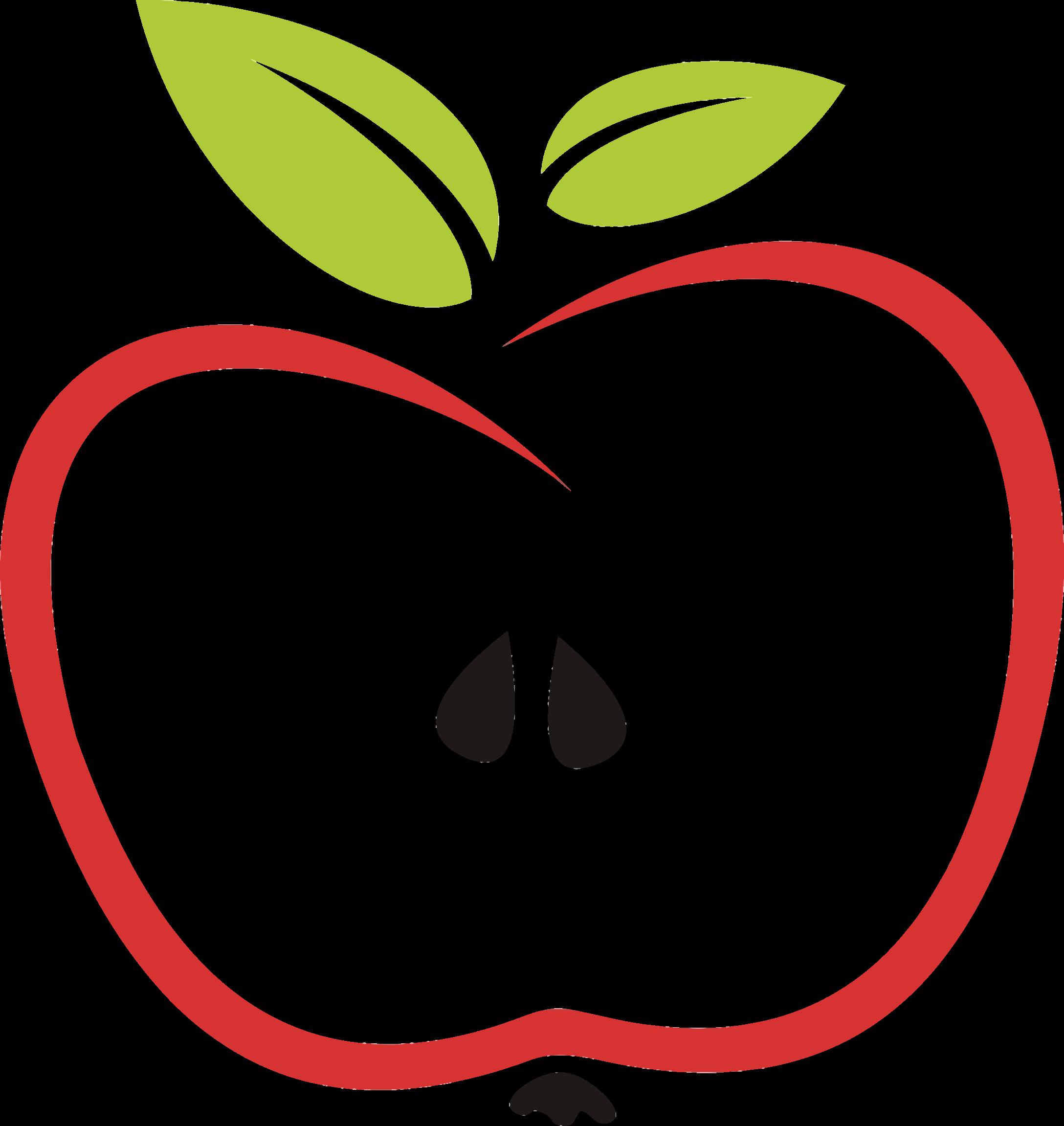 Leaf of apple jokingart. D20 clipart stylized