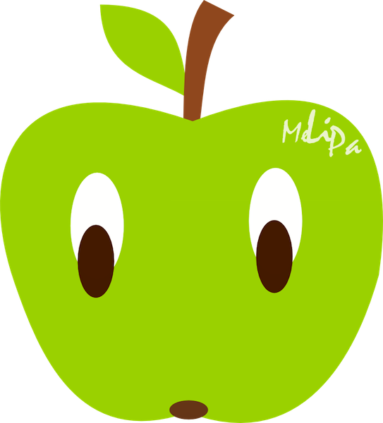 Pear clipart kawaii. Free apple illustration graphic