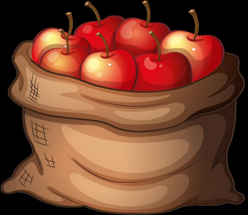 Apple fruit bag free. Fruits clipart woman