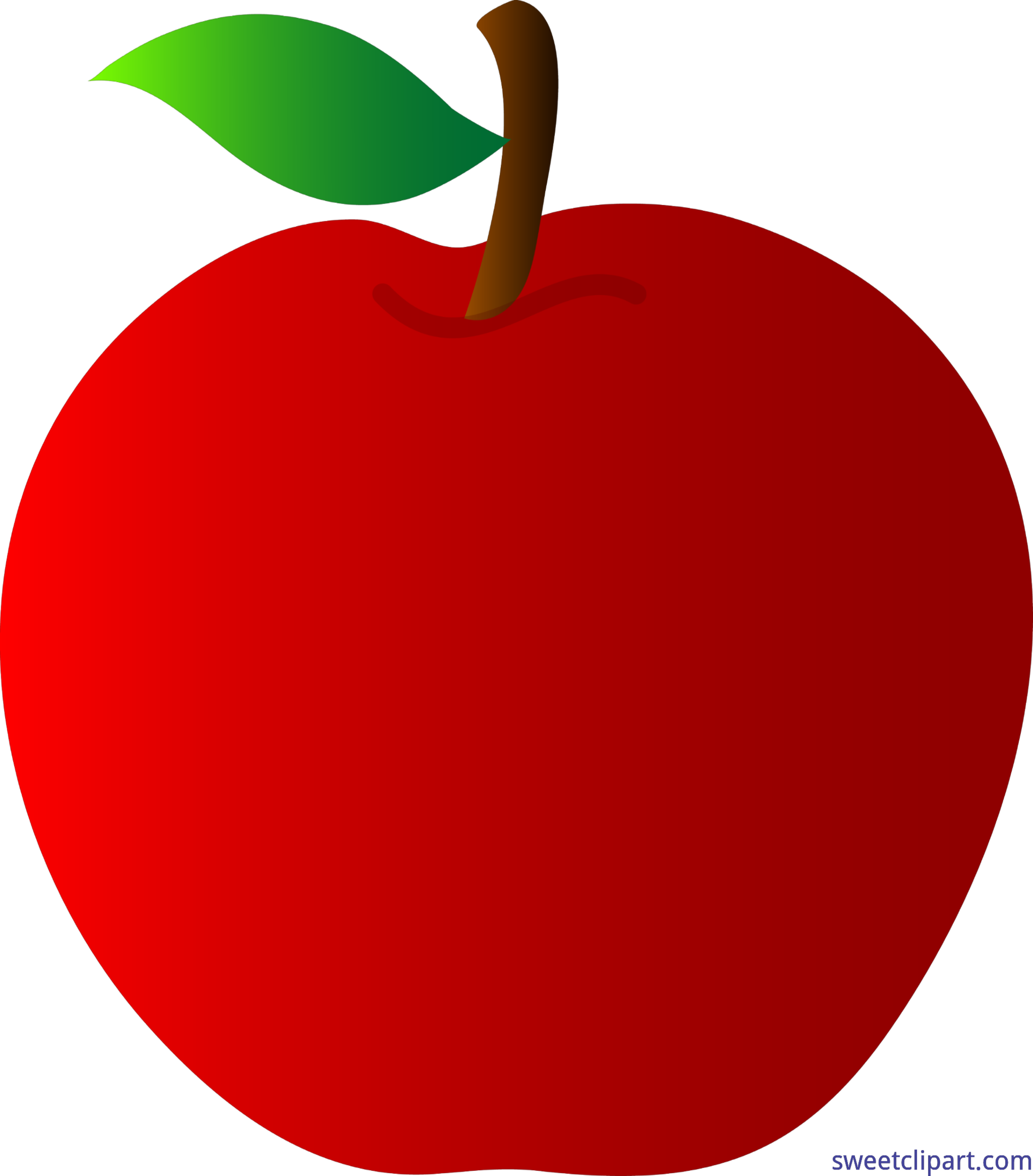 Number 1 clipart red. Apple clip art sweet