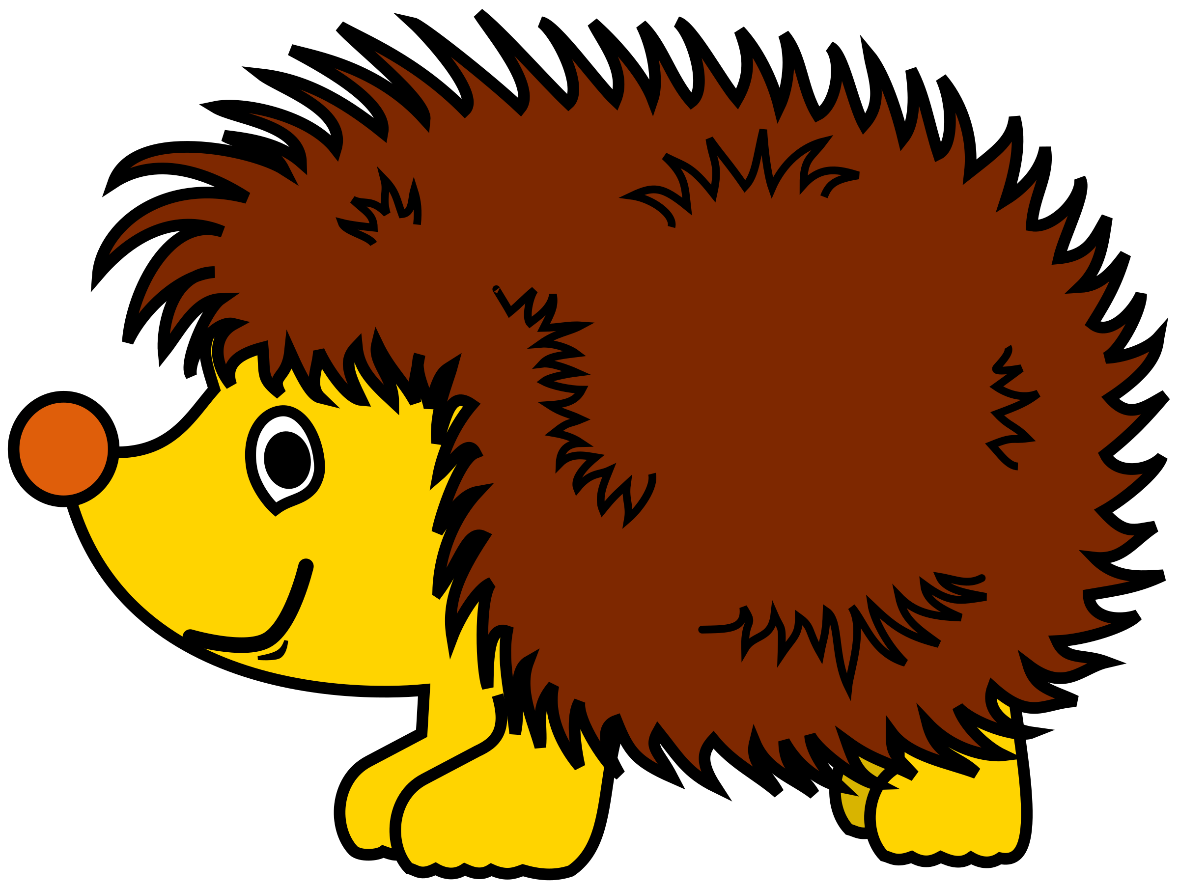 Simple pencil and in. Hedgehog clipart porcupine