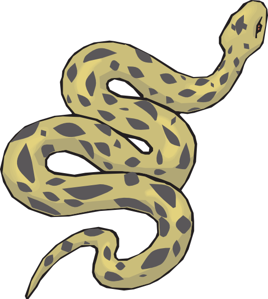 Anaconda pencil and in. Snake clipart brown snake
