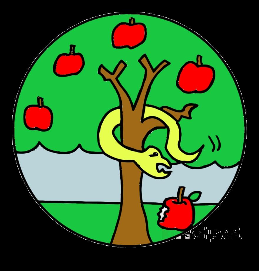 Snake clipart apple. Tree advent clip art