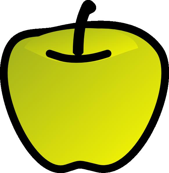 Clipart apples solid. Green apple clip art