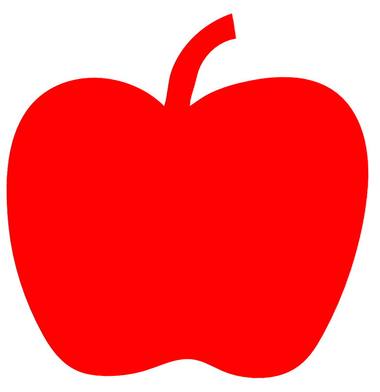 Free red apple images. Clipart apples solid
