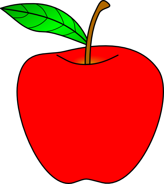 Red apple free clip. Clipart apples solid