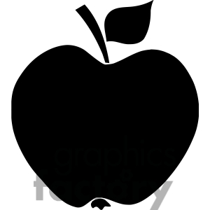 Clipart apples solid. Apple black and white