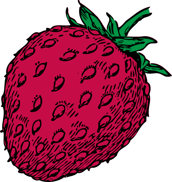 Strawberry clip art at. Strawberries clipart draw