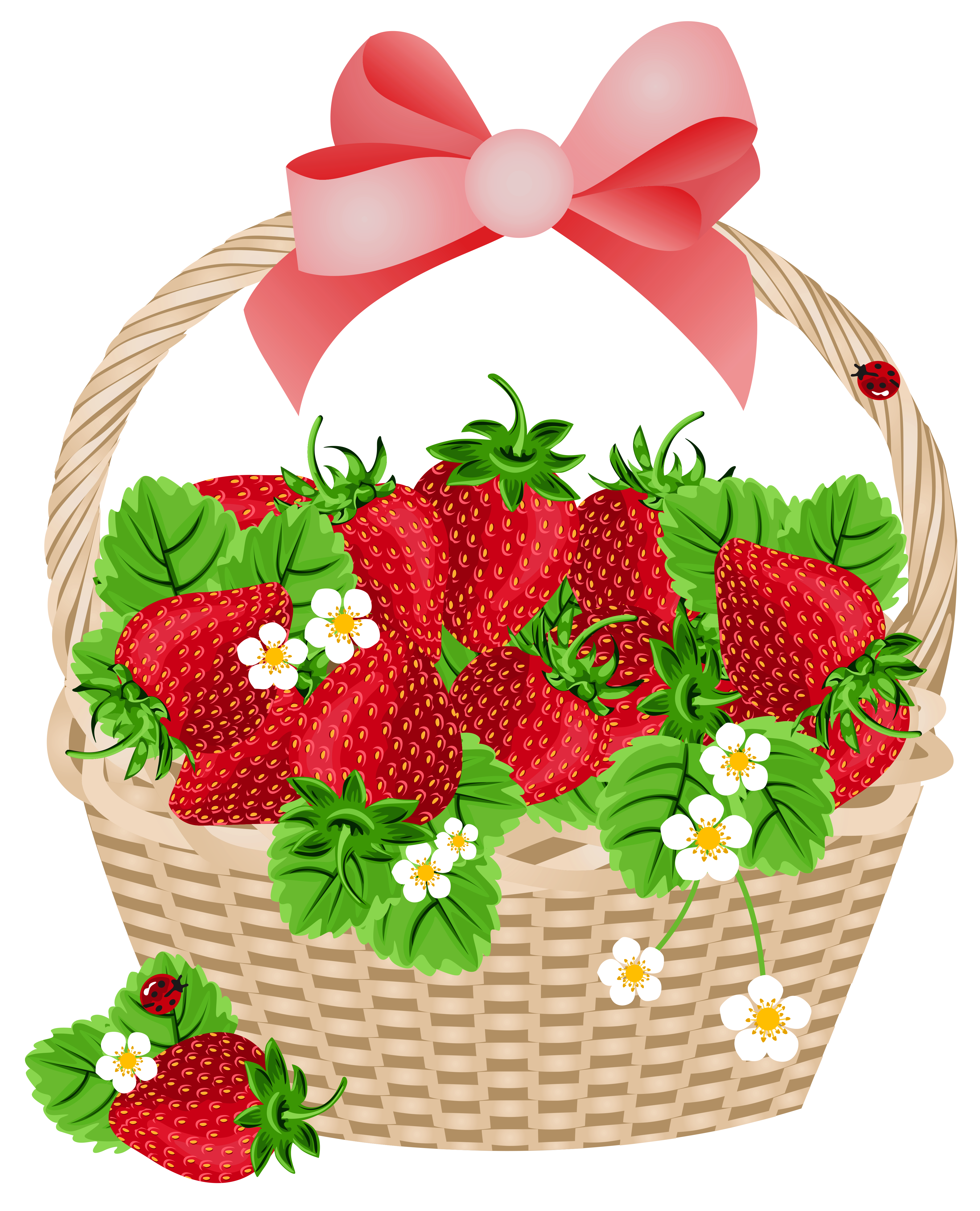 Clipart box strawberry. Basket with strawberries transparent