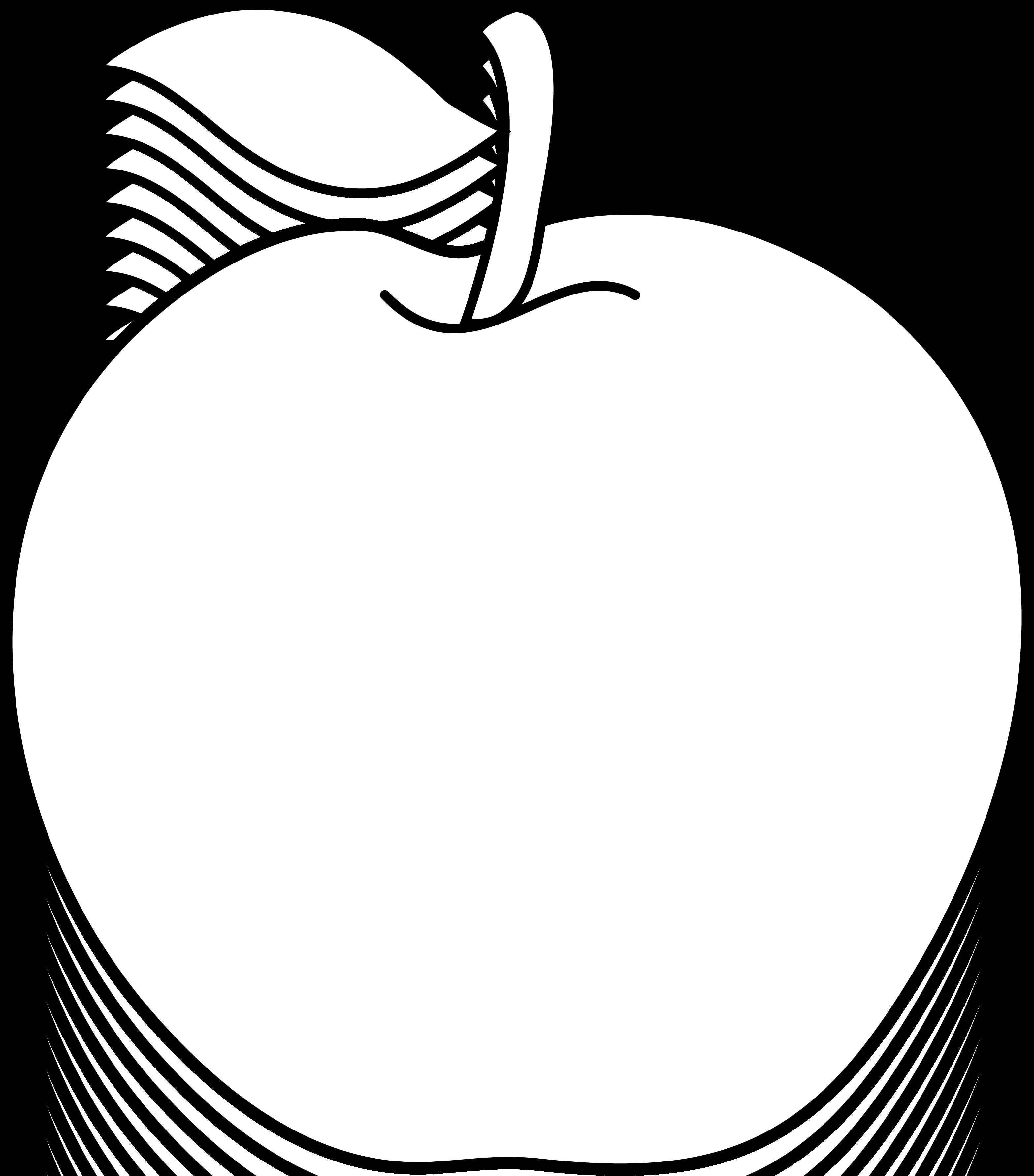 Design clipart fruit. Teacher apple black and