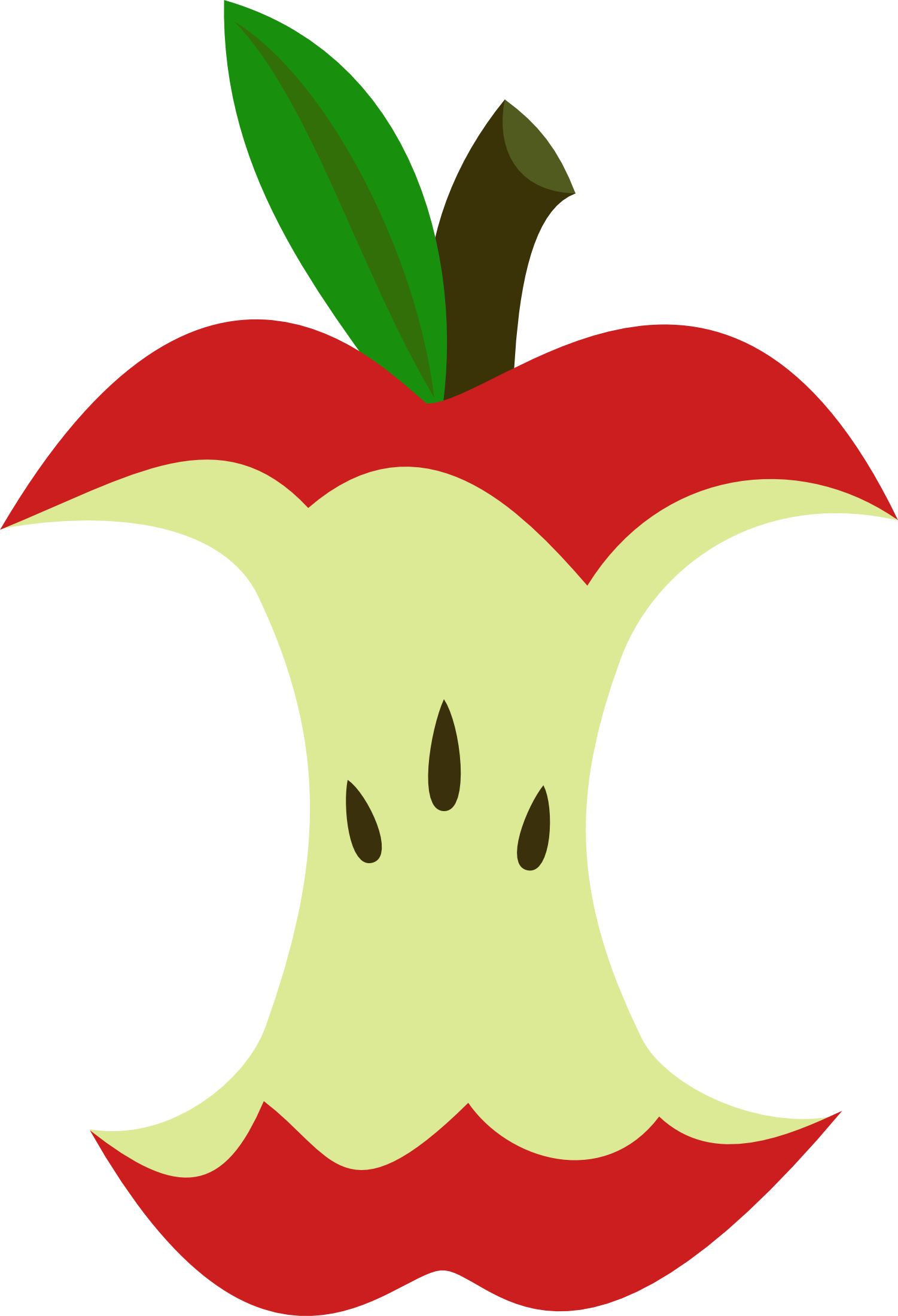 Apple core cutie mark. Watermelon clipart picnic potluck