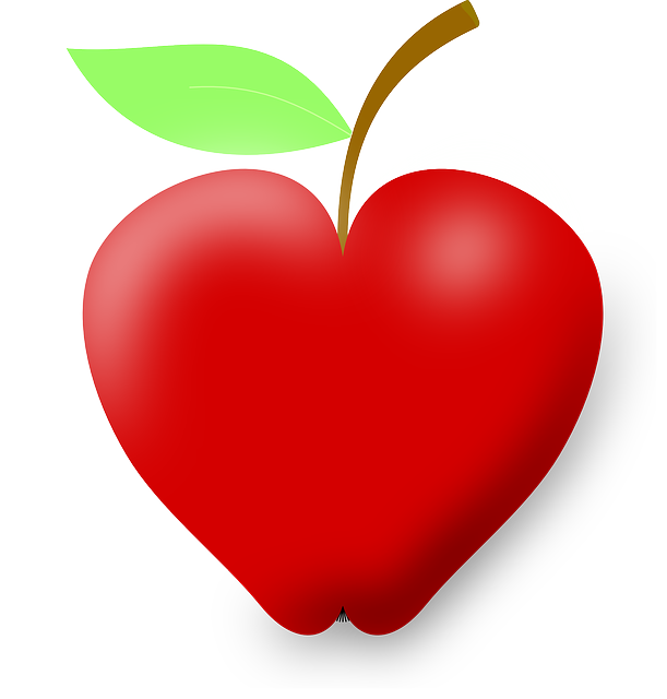 Shaped apple fun beautiful. Heart clipart fruit