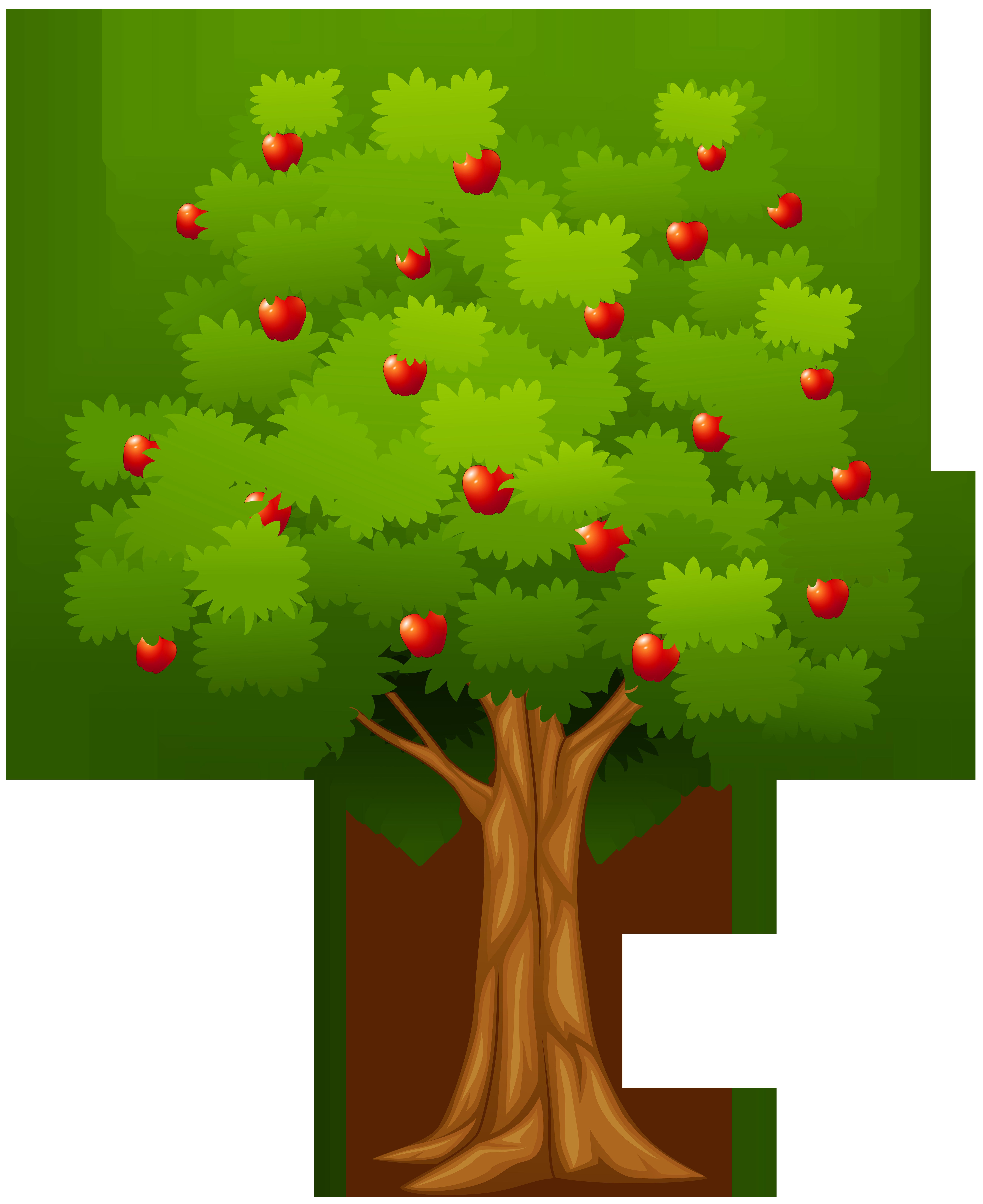 Fruit Bearing Trees Clipart - Tree With One Apple Cartoon , Transparent  Cartoon - Jing.fm