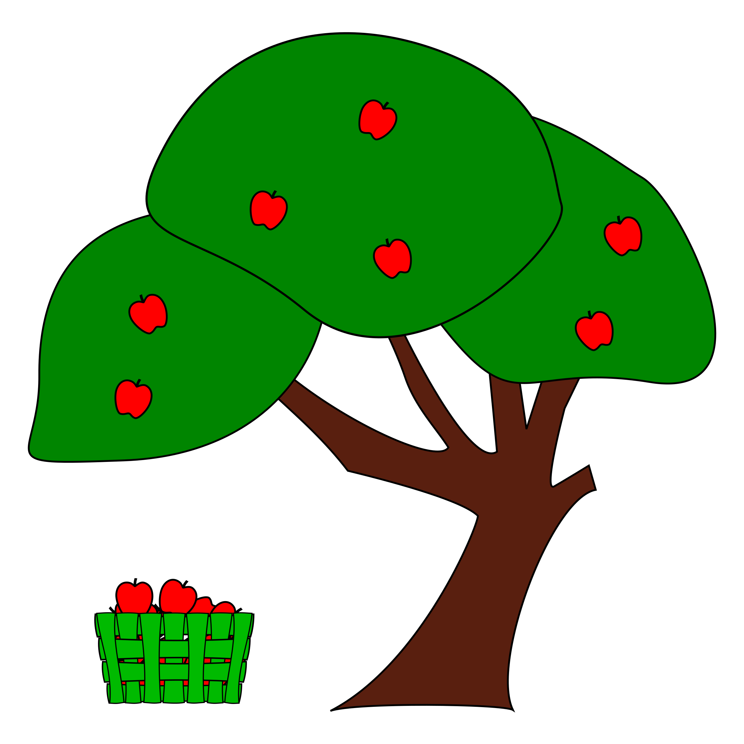 Converse clipart green clipart. Apple tree big image