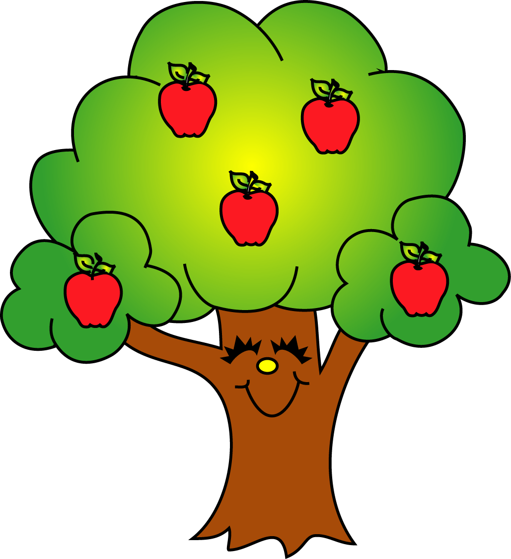 Apple clip art clipartix. Tree clipart face