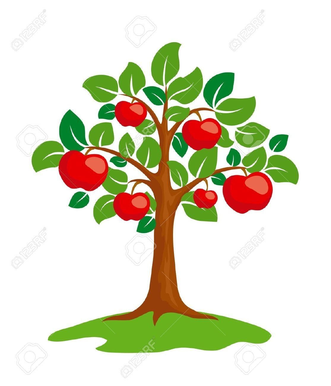 Clipart trees fruit. Pin by che saludes
