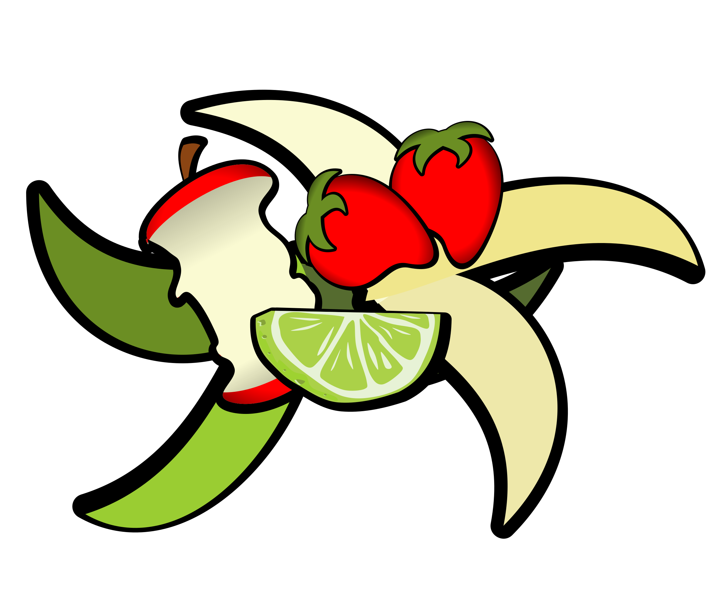 Clipart apples waste.  collection of biodegradable