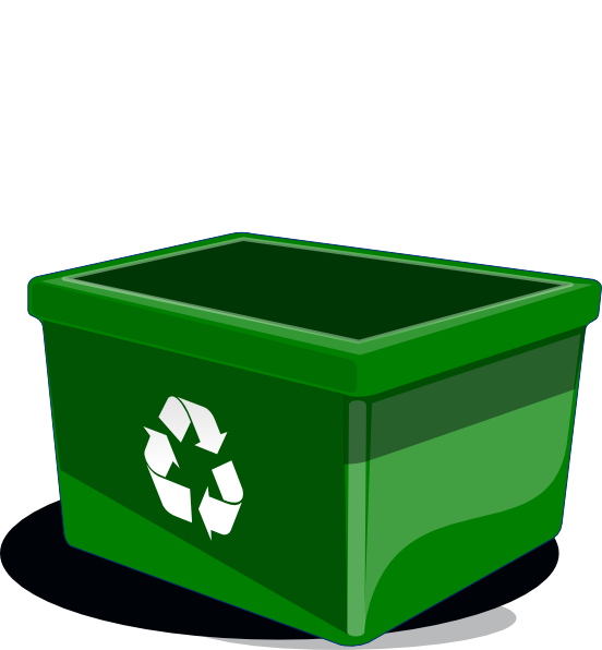 Recycle bin clip art. Clipart box cartoon